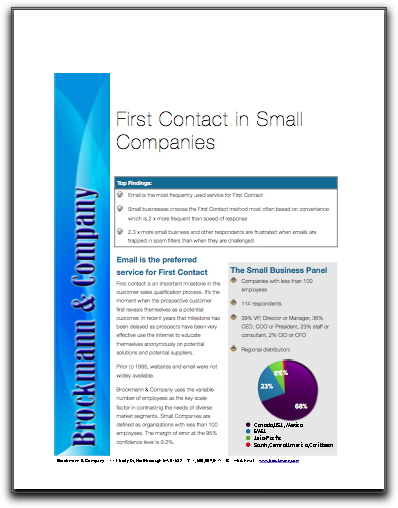 First Contact in Small Companies