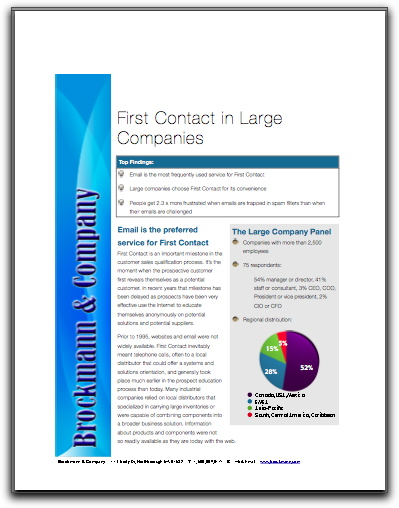 First Contact in Large Companies