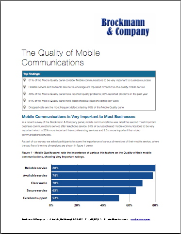 Quality of Mobile Communications