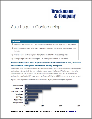 Asia Lags in Conferencing