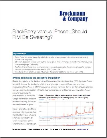 BlackBerry versus iPhone: Should RIM be Sweating?