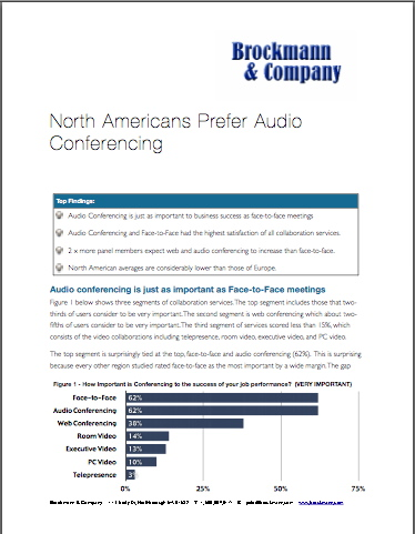 North Americans Prefer Audio Conferencing
