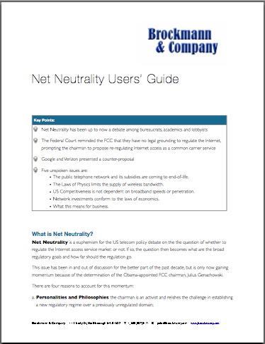 Net Neutrality Users Guide
